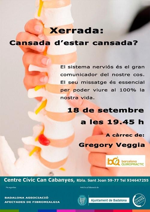 Cartell xerrada Barcelona quiropractic 2014