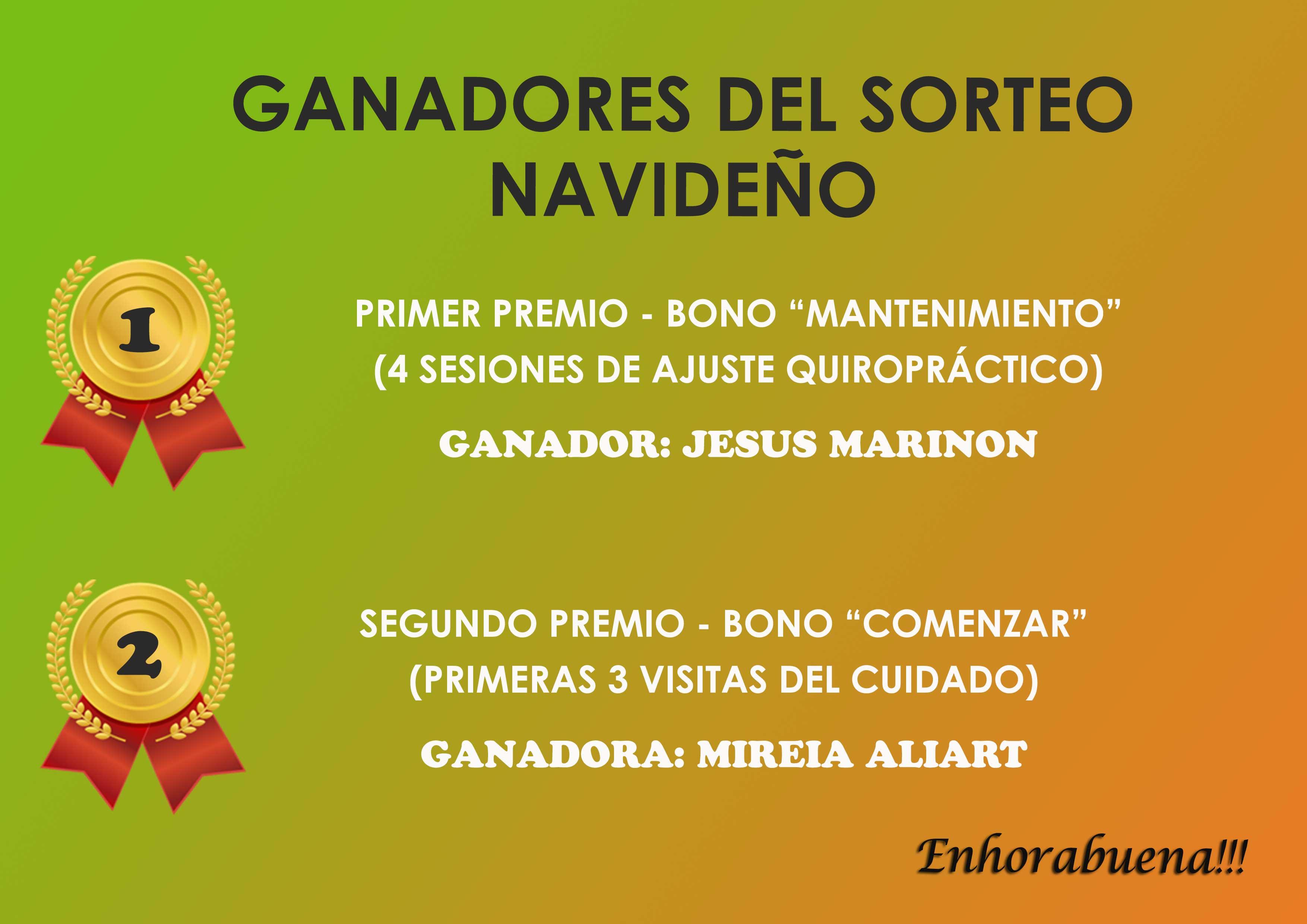 Ganadores Sorteo ENERO 2015